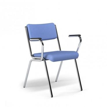 Cadeira Spazio Fixa com braços
